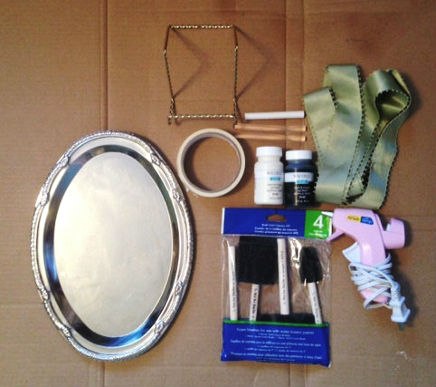 Materials for Chalkboard Tray Edit